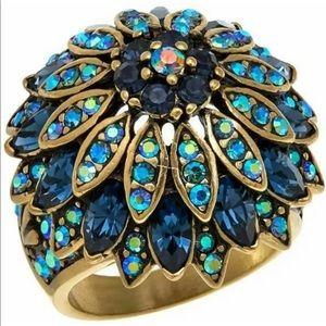🆕 Heidi Daus size 8 blues ring